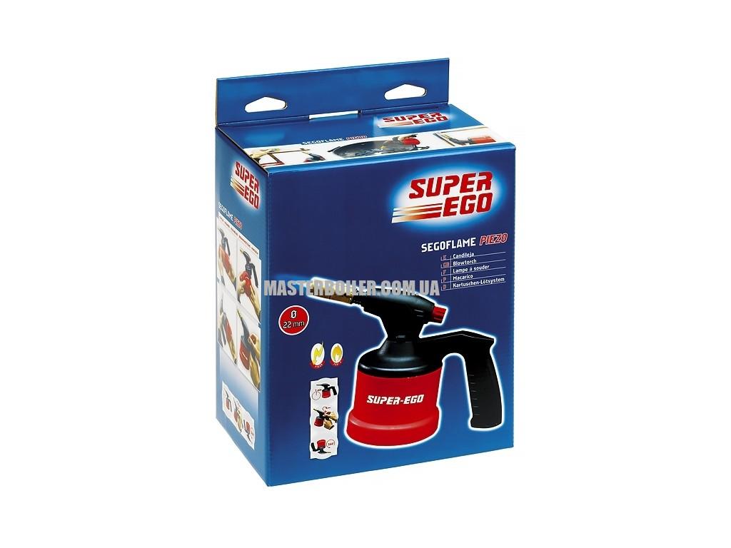 Газовая горелка с пьезоподжигом SUPER-EGO SEGOFLAME PIEZO, прокалываемое соединение (без балончика) 0