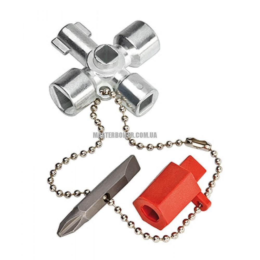 Ключ для электрошкафов для распространенных шкафов и систем запирания KNIPEX 00 11 02 0