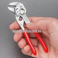 Миниатюрный цанговый ключ (переставные клещи), переставные клещи и гаечный ключ в одном инструменте KNIPEX 86 03 125 0