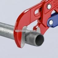Клещи трубные с S-образным смыканием губок с быстрой регулировкой KNIPEX 83 60 015 0