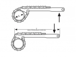 "Двухсторонний цепной ключ SUPER-EGO 107, 4"" R/L 0"