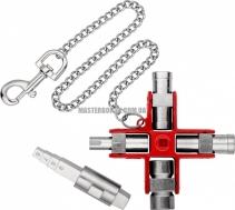 Универсальный ключ для строительства для распространенных шкафов и систем запирания KNIPEX 00 11 06 V01 4