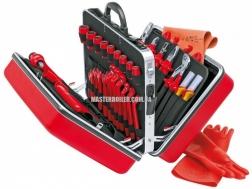 Чемодан универсальный с электроизолированными инструментами 48 предметов KNIPEX 98 99 14 2