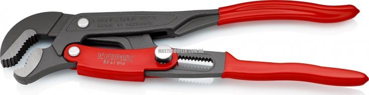Клещи трубные с S-образным смыканием губок с быстрой регулировкой KNIPEX 83 61 010 2