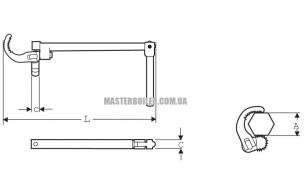Сантехнический ключ для моек, раковин и гибкой подводки SUPER-EGO 118, 10 - 32 мм (3/4