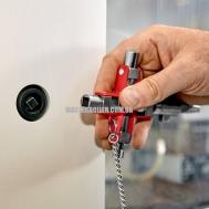 Универсальный ключ для строительства для распространенных шкафов и систем запирания KNIPEX 00 11 06 V01 2