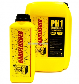 RADIFLUSHER PH 1, 1 л - кислотное cредство для промывки системы охлаждения автомобиля, радиатора печки отопителя салона