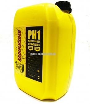 RADIFLUSHER PH 1, 10 л - кислотное cредство для промывки системы охлаждения автомобиля, радиатора печки отопителя салона