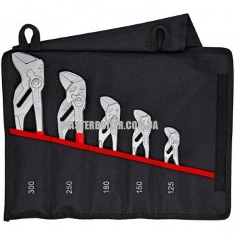 Набор переставных клещей-гаечных ключей 5 предметов KNIPEX 00 19 55 S4
