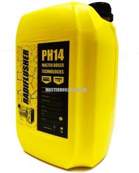 RADIFLUSHER PH 14, 10 л - щелочное cредство для промывки системы охлаждения автомобиля, радиатора печки отопителя салона