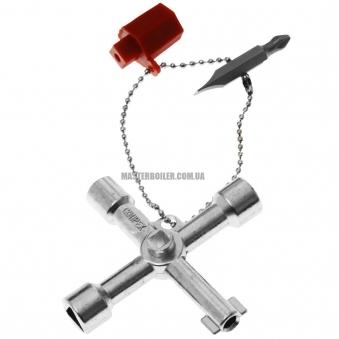 Ключ для электрошкафов для распространенных шкафов и систем запирания KNIPEX 00 11 03