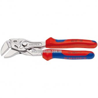 Переставные мини-клещи, переставные клещи и гаечный ключ в одном инструменте KNIPEX 86 05 150