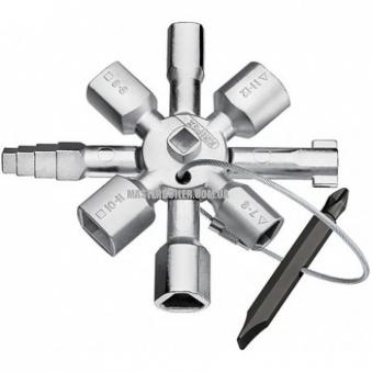 KNIPEX TwinKey® для распространенных шкафов и систем запирания KNIPEX 00 11 01
