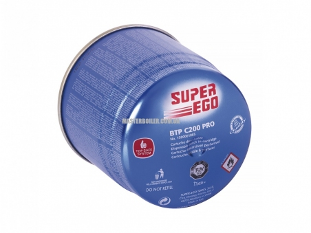 Газовый баллончик SUPER-EGO BTP C200, прокалываемое соединение, 350 мл