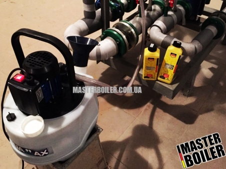 АРЕНДА оборудования (бустера, установки, насоса) для промывки теплообменников