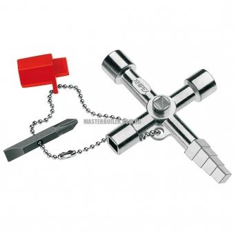 Ключ для электрошкафов профессиональный для распространенных систем запирания KNIPEX 00 11 04