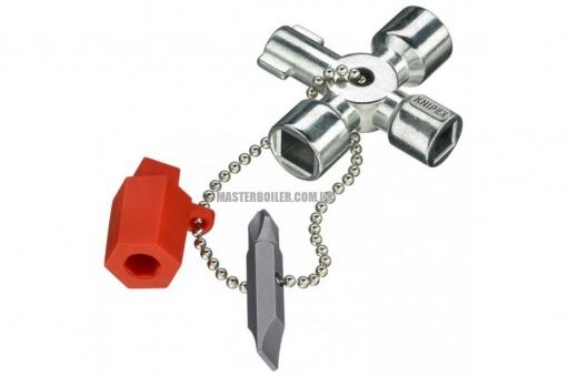 Ключ для электрошкафов для распространенных шкафов и систем запирания KNIPEX 00 11 02
