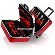 Чемодан универсальный с электроизолированными инструментами 48 предметов KNIPEX 98 99 14