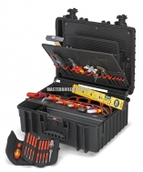 """Инструментальный чемодан """"Robust45"""" Elektro 63 предмета с встроенными колёсиками и выдвижной ручкой KNIPEX 00 21 37"""